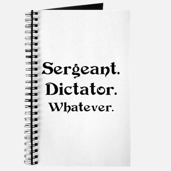 sergeant dictator Journal