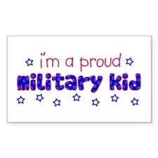 Proud Military Kid Rectangle Decal
