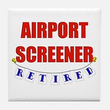 Retired Airport Screener Tile Coaster