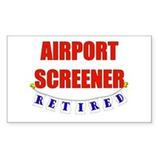 Retired Airport Screener Rectangle Decal