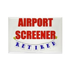 Retired Airport Screener Rectangle Magnet