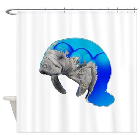 Get Free High Quality HD Wallpapers Manatee Shower Curtain