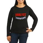 Retired Analyst Women's Long Sleeve Dark T-Shirt
