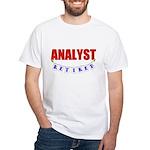 Retired Analyst White T-Shirt