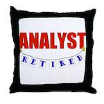Retired Analyst Throw Pillow