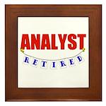 Retired Analyst Framed Tile