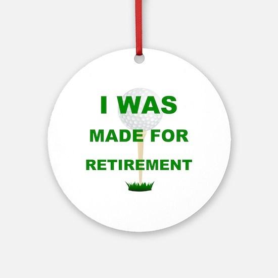 Unique Golf retirement Round Ornament