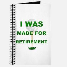 Funny Golf retirement humor Journal