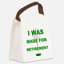 Cute Golf retirement Canvas Lunch Bag