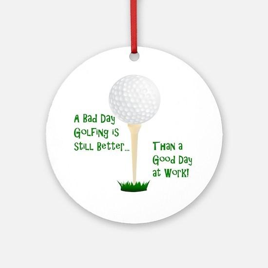 Cute Golf retirement Round Ornament