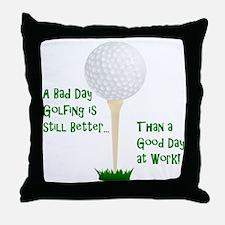 Cute Golf retirement Throw Pillow