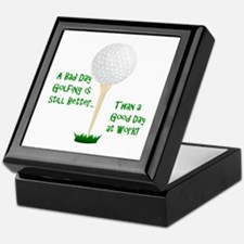 Cute Golf retirement Keepsake Box