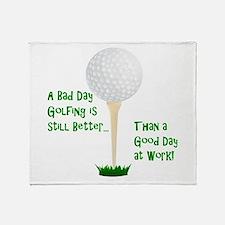 Unique Golf humor Throw Blanket