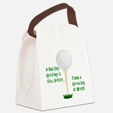 Unique Golf retirement Canvas Lunch Bag