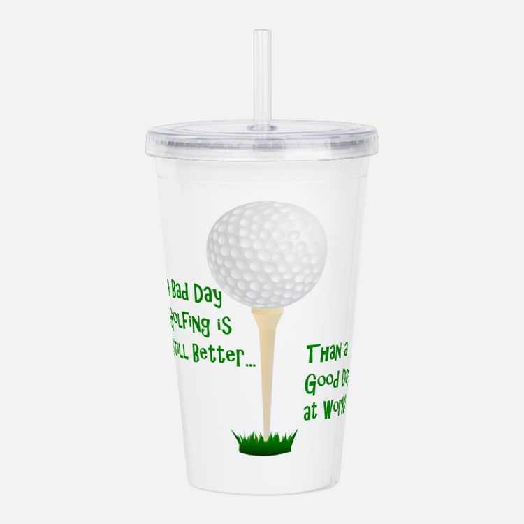Cute Golf course Acrylic Double-wall Tumbler