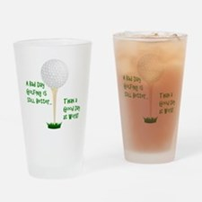 Unique Golf cart humor Drinking Glass