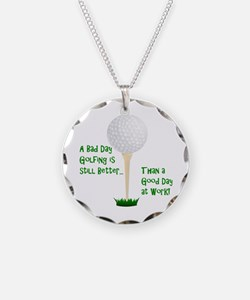 Cute Retirement golf Necklace