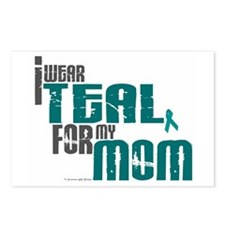 I Wear Teal For My Mom 6 Postcards (Package of 8)
