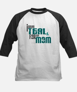 I Wear Teal For My Mom 6 Kids Baseball Jersey