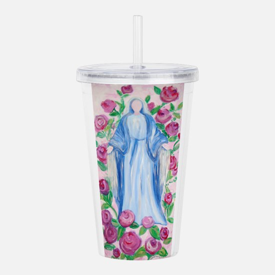 Mary-In-Her-Rosary_by_ Acrylic Double-wall Tumbler