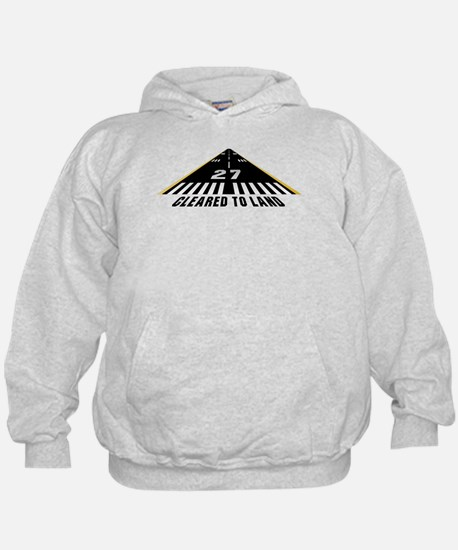 Aviation Cleared To Land Runway 27 Hoodie