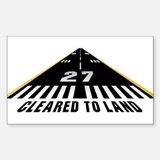Aviation Cleared To Land Runway 27 Decal