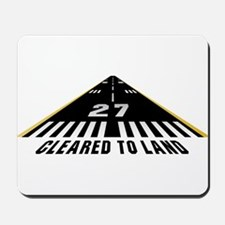 Aviation Cleared To Land Runway 27 Mousepad
