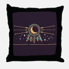 Dreamcatcher Moon Throw Pillow