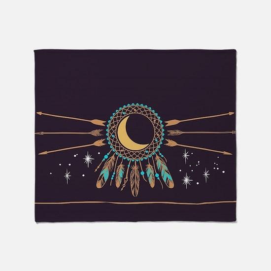 Dreamcatcher Moon Throw Blanket