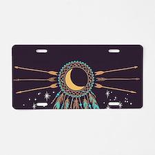 Dreamcatcher Moon Aluminum License Plate