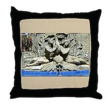 Santa Barbara, CA Courthouse Fountain Throw Pillow