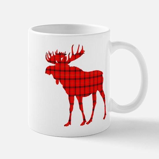 Moose: Rustic Red Plaid Mugs