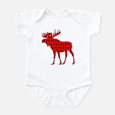 Moose: Rustic Red Plaid Body Suit