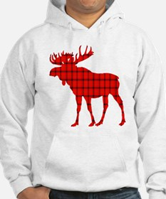 Moose: Rustic Red Plaid Hoodie