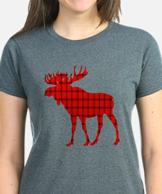 Moose: Rustic Red Plaid T-Shirt