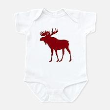 Moose: Rustic Red Infant Bodysuit
