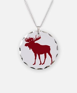 Moose: Rustic Red Necklace