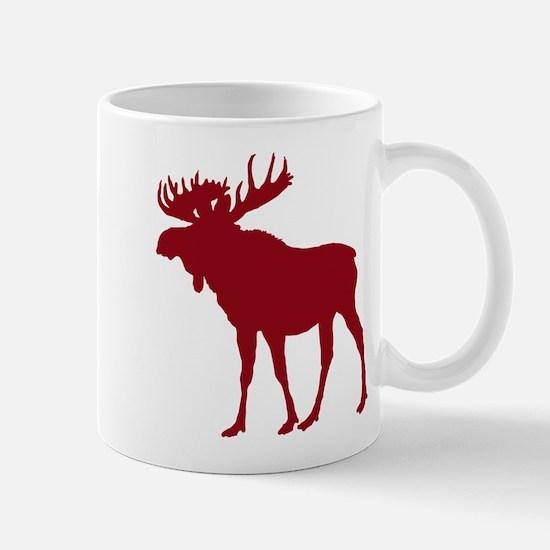 Moose: Rustic Red Mug