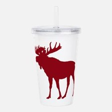 Moose: Rustic Red Acrylic Double-wall Tumbler