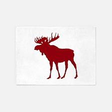 Moose: Rustic Red 5'x7'Area Rug