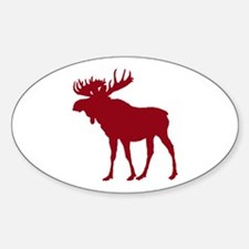 Moose: Rustic Red Decal