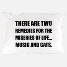 Music And Cats Pillow Case