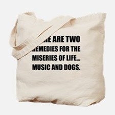 Music And Dogs Tote Bag