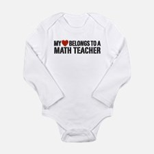 My Heart Math Teacher Body Suit