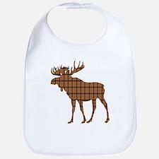 Moose: Brown Plaid Bib