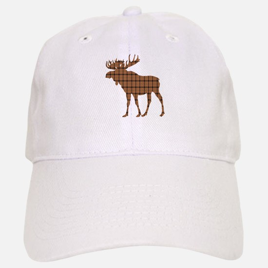 Moose: Brown Plaid Baseball Baseball Cap