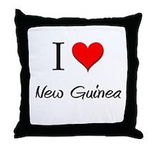 I Love New Throw Pillow