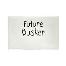 Future Busker Rectangle Magnet