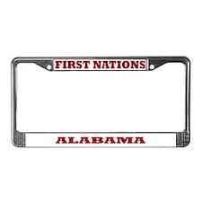 First Nations Alabama License Plate Frame