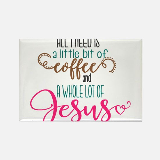coffee and jesus Magnets